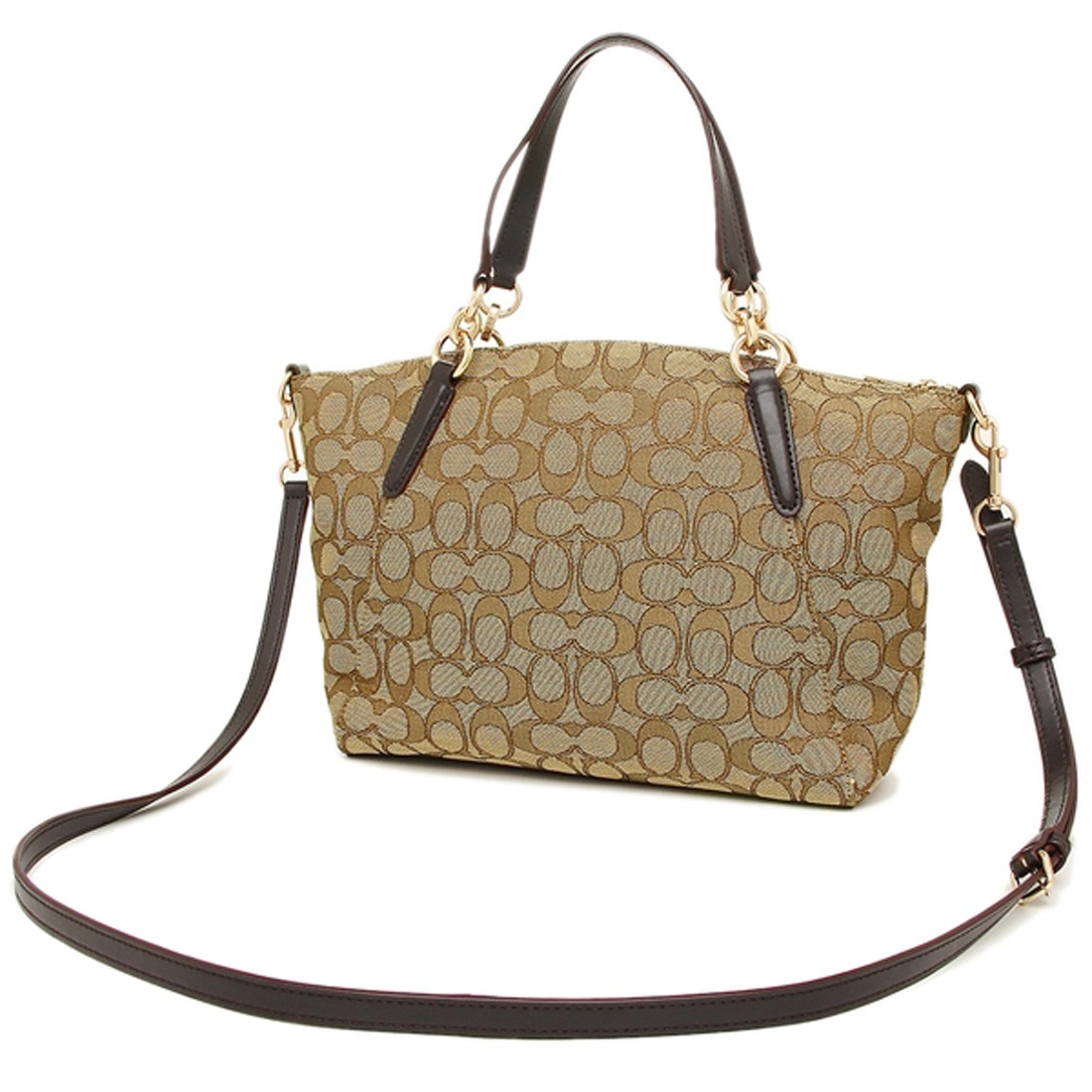 3075ea85c2b7 NWT COACH Small Kelsey Satchel Signature Jacquard Fabric Crossbody ...